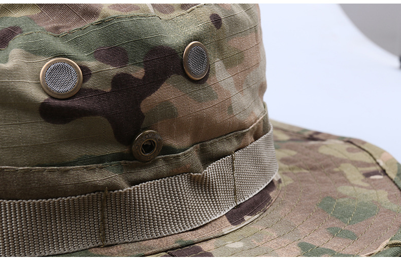 62b9c15d10d Multicam Tactical Bucket Boonie Hats Airsoft Sniper Camouflage Nepalese Cap  Military Army American Military Accessories Men