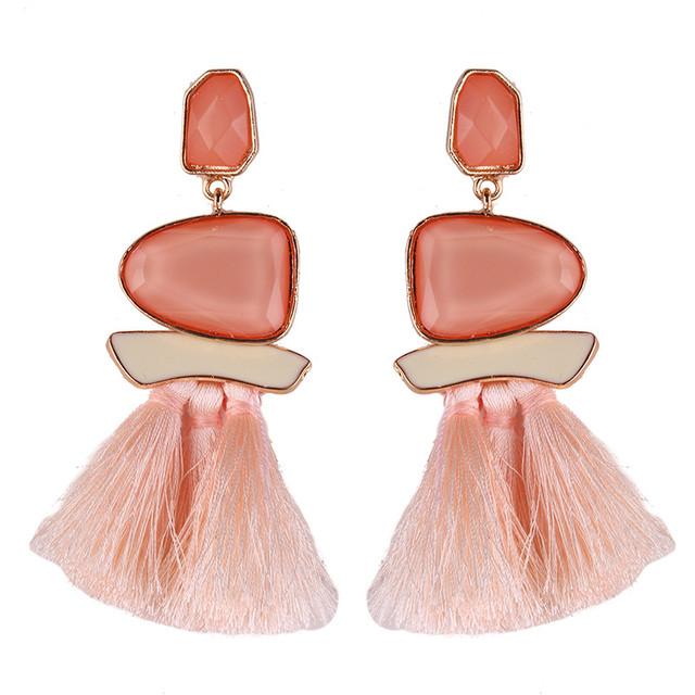 New Fringed Statement Tassel Earrings Wedding Multicolored Hot Fashion Bohemian Drop Dangle Earrings Jewelry for Women
