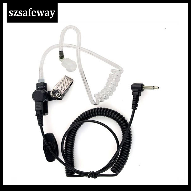 50 Air Tube Listen Only Earpiece Receive Only Earphone 3.5mm With Acoustic Tube For Two Way Radio Speaker Mi