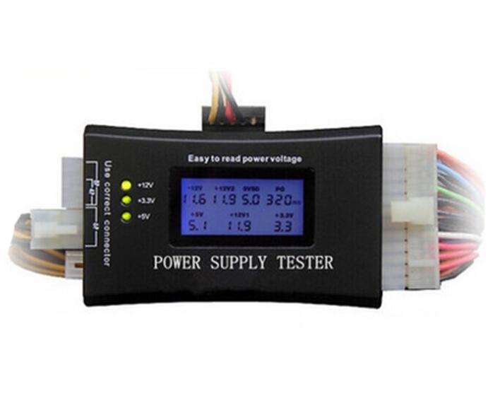 PC Computer LCD 20//24 Pin 4 PSU ATX BTX ITX SATA HD HDD Power Supply Tester