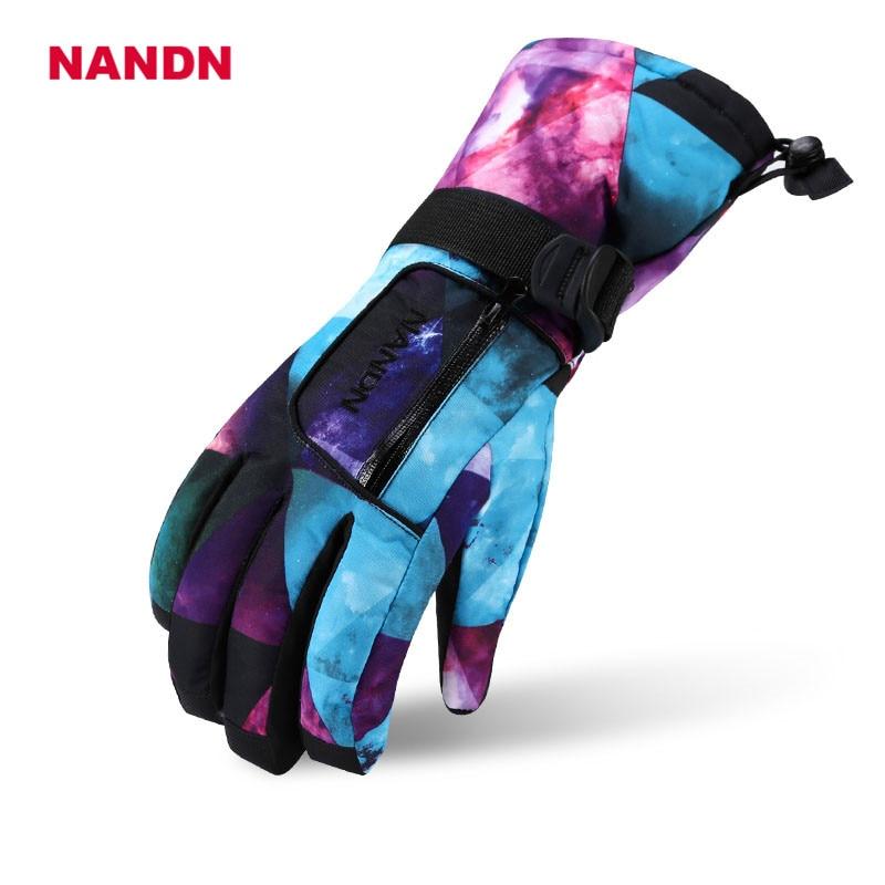 Professional All-weather Waterproof Thermal Skiing Gloves Motorcycle NANDN Winter Waterproof Sports Outdoor Ski Gloves NS5001