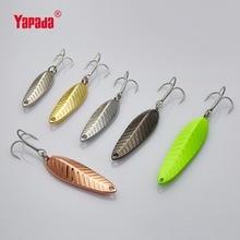 YAPADA Spoon 009 Fly Leaf 5g/7g/10g/15g Multicolor 34mm/39mm/45mm/57mm Treble HOOK Metal Spoon Fishing Lures
