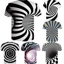 ZOGAA 2019 New Mens Individuality Vortex Pattern 3d Print Summer Short Sleeve T-Shirt men
