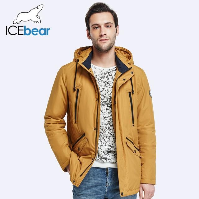 ICEbear 2017 Двойные Карманы Мужская Весна Пальто Моды для Мужчин Куртка Тонкий Пальто Высокого Качества для мужчин Куртка 17MC023D