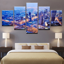 5 Panel Modern Printed Blue Beach Sea Scenes Pictures Wall Art ...