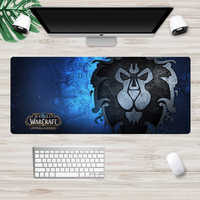 Welt von Warcraft Gaming Maus pad Gamer Große 70x30cm Horde Allianz Computer Mousepad Non-Skid Gummi locking Rand Schreibtisch Matte