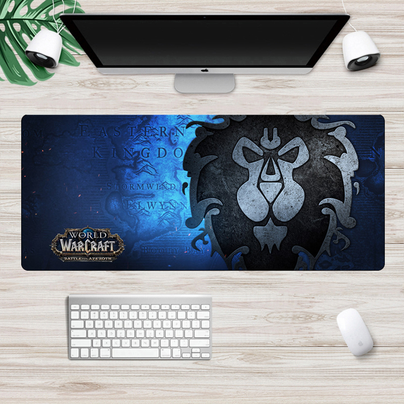 World Of Warcraft Gaming Mouse Pad Gamer Large 70x30cm Horde Alliance Computer Mousepad  Non-Skid Rubber Locking Edge Desk Mat