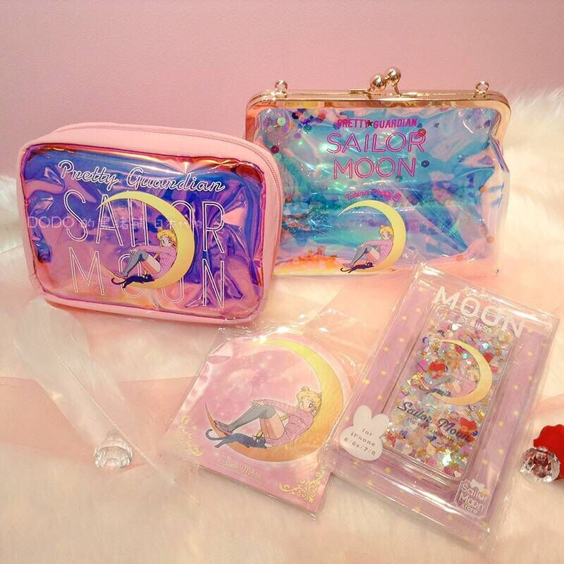 Sailor Moon Luna Hologram Laser Cosmetic Bag Shoulder Bag Pouch