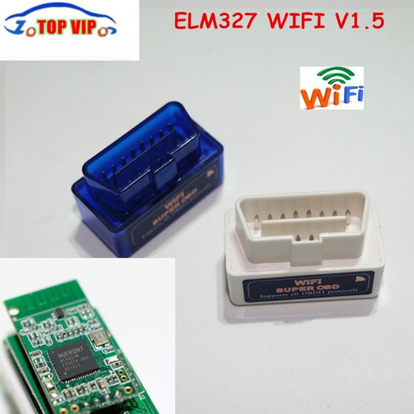 Big Discount!!Top selling SUPER MINI ELM327 WIFI OBD2 Scanner V1.5 Smart Car Diagnostic Interface ELM 327 Wireless Scan Tool