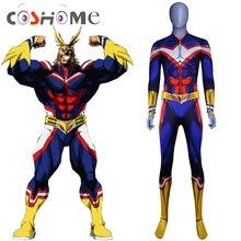 Coshome Boku No My Hero Accademico Tutto Potrebbe Parrucche di Cosplay del Costume Zentai Lycra Spandex Blu Degli Uomini Delle Donne Della Tuta Della Tuta