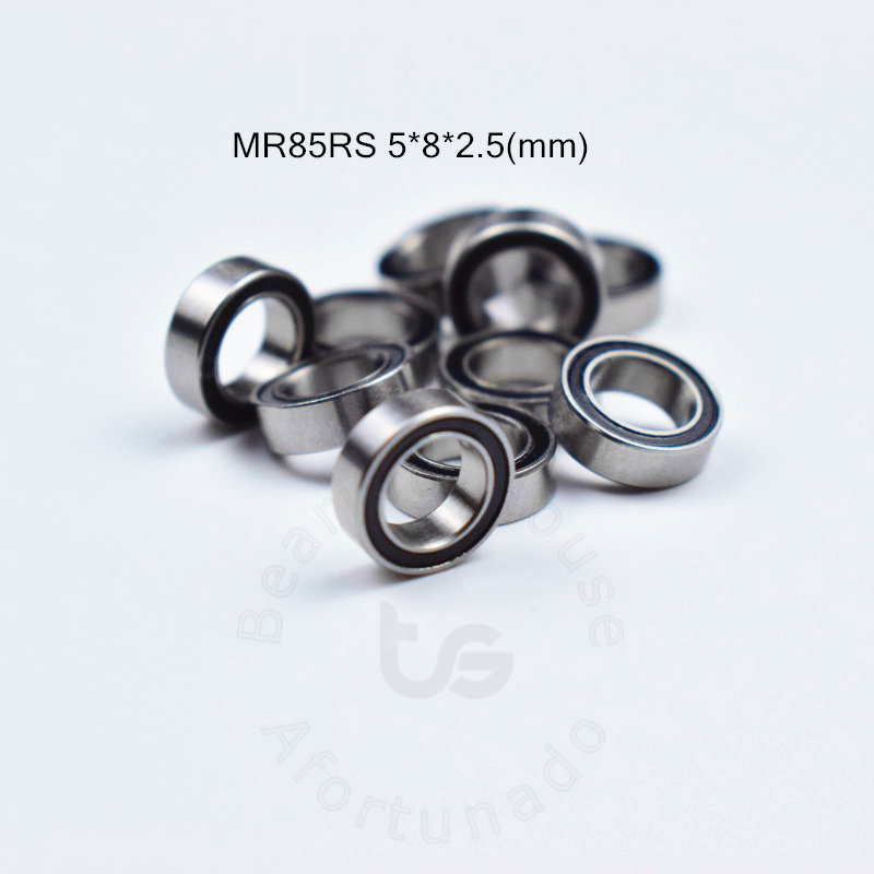 MR85RS  5*8*2.5(mm) 10pieces Free Shipping Bearing ABEC-5 Rubber Sealed Miniature Mini Bearing MR85 MR85RS
