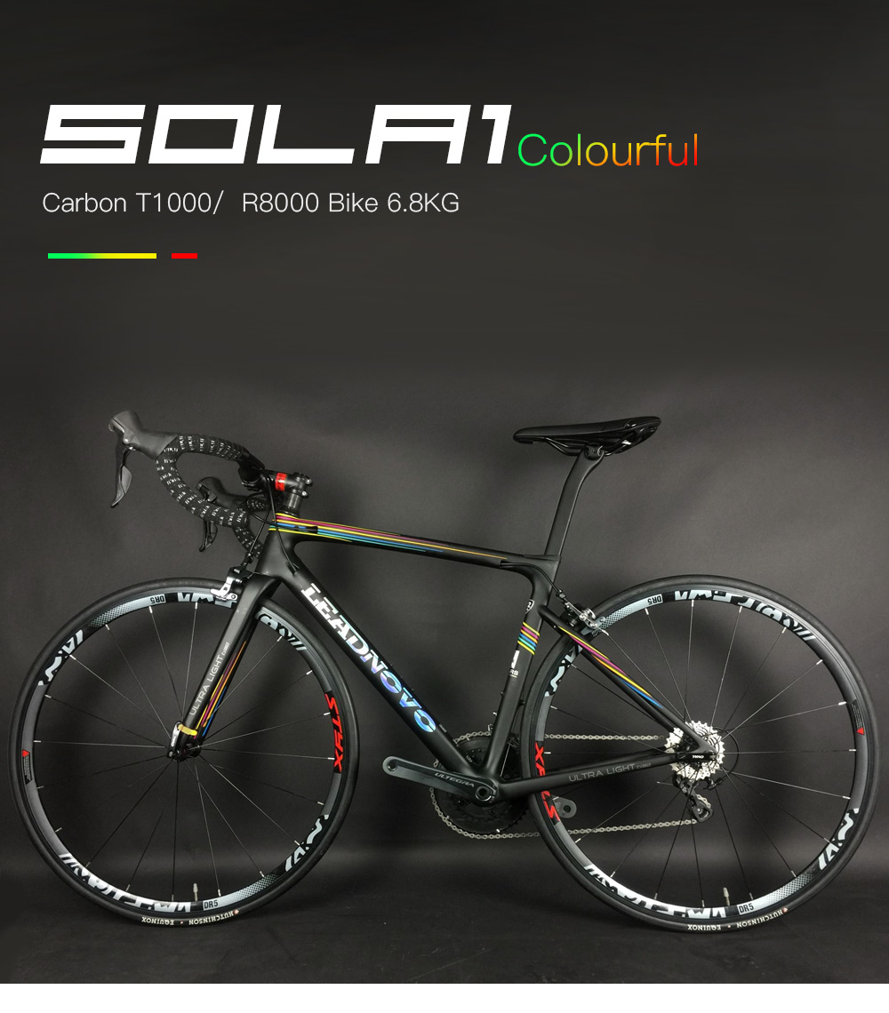 Flash Deal 700C complete Carbon Fiber Road Bike carbon frame UD bsa bb30 pf30 Racing Cycling FramesetSH1MANO 5800 2