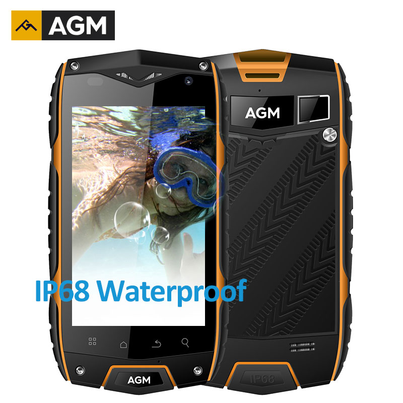 bilder für AGM A7 IP68 Wasserdicht Stoßfest Staubdicht handy 4,0 HD QUALCOMM Quad Core 2 GB 16 GB 8MP android 6.0 4G GPS OTG Handy