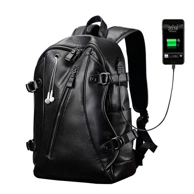 code promo 1d0e0 c2112 € 29.94 32% de réduction|Sac à dos en cuir véritable noir pour les hommes  d'école garçon marque de luxe hommes sacs à dos d'ordinateur portable ...