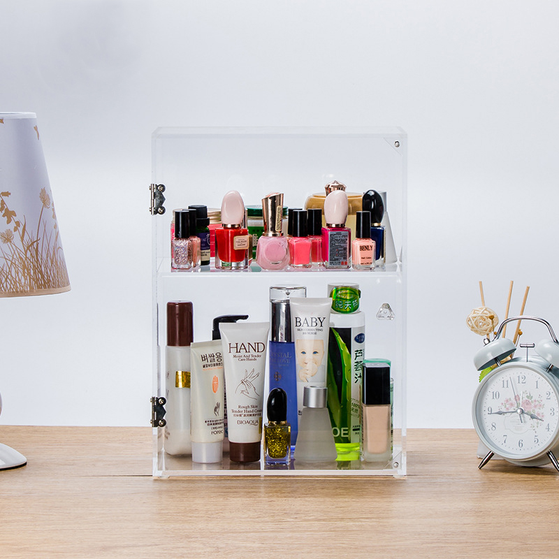 Transparent Makeup Organizer Storage Box Acrylic Make Up Organizer Cosmetic Storage Makeup Storage Organizer with Door