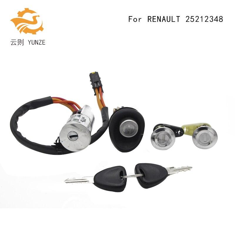 25212348 COMPLETE LOCK BARREL SET WITH 2 KEYS IGNITION SWITCH DOOR LOCK TRUNK LOCK FOR RENAULT LOGAN DACIA