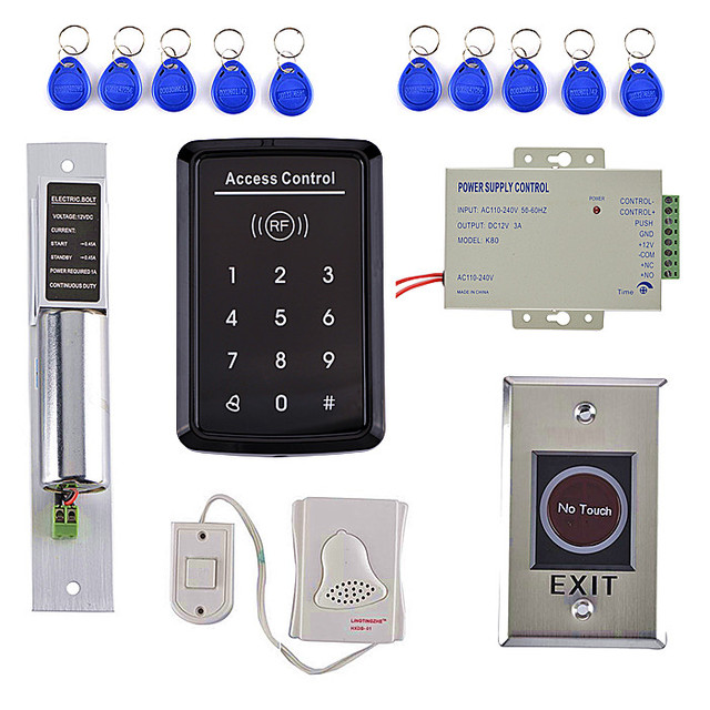 Electric Bolt Lock +NO Touch Button Door Access Control Kit+Bule Light Touch Door  sc 1 st  AliExpress.com & Electric Bolt Lock +NO Touch Button Door Access Control Kit+Bule ...