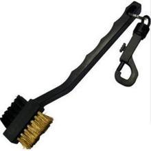 Новое поступление высокое качество 2-сторонний полезно для игры в гольф клуб материал зубцов шаровой подшипник паза чистящее средство для чистки набор инструментов