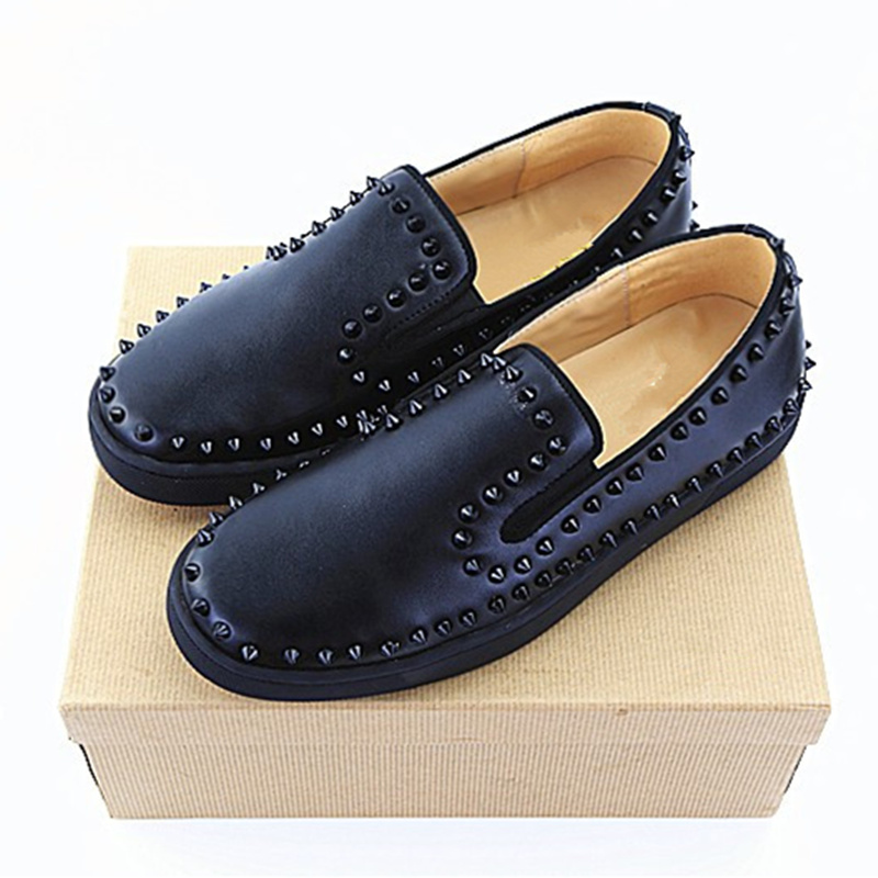 Marca as Dedo Redondo Yanicuding Embellished black Dos Pé Sapato Pic Homme Rebites as Do Luxo As Estilo Top De Europeu Sapatos Chaussures Casuais Pic Baixos Pic Planas Estrela Homens Z4qdqxw