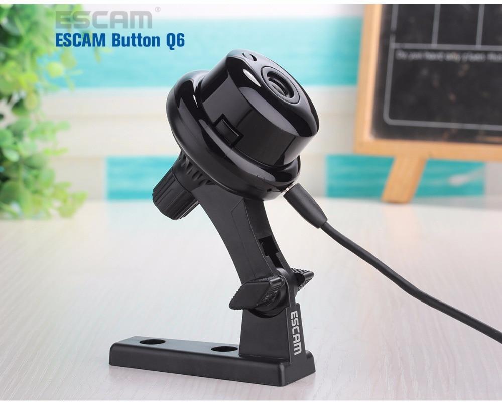 ESCAM Button Q6 HD 720P IP Wifi Wireless Camera ONVIF Mini CCTV Home Security Indoor Cameras Night Vision Security WI-FI IP Cam escam sos button use for escam ip camera qf500 qf521 qf502 qf510 qf550 ip cameras