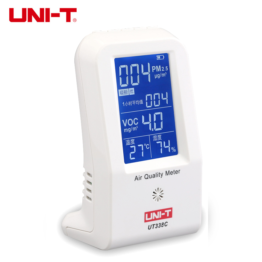 UNI-T UT338C VOC formaldehyde detector PM2.5 monitor air quality monitor dust haze tester Temperature Humidity Meter 7-in-1 pm2 5 detector uni t ut25m high precision laser pm2 5 air quality detection sensor module super dust dust sensors 0 500ug cubi