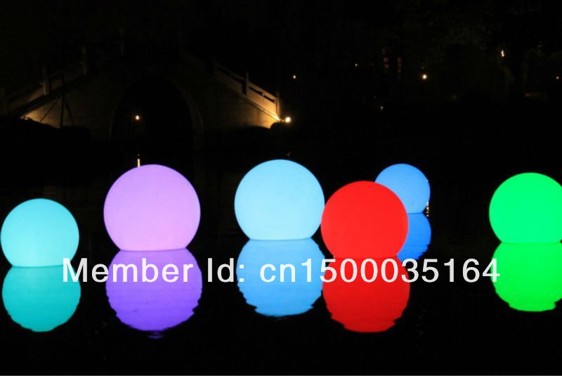 Magic Led Ball! Waterproof And Rechargeable Diameter 25cm Color Changing Led Ball,remote Controll,SL-LB250