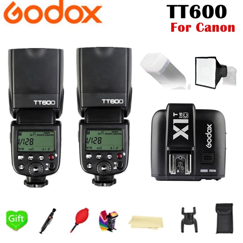 2x Godox TT600 TT600S 2 4G TTL HSS Speedlite Flash X1T C X1T N X1T S X1T O X1T F Trigger for Canon Nikon Sony Fujifilm Olympus in Flashes from Consumer Electronics