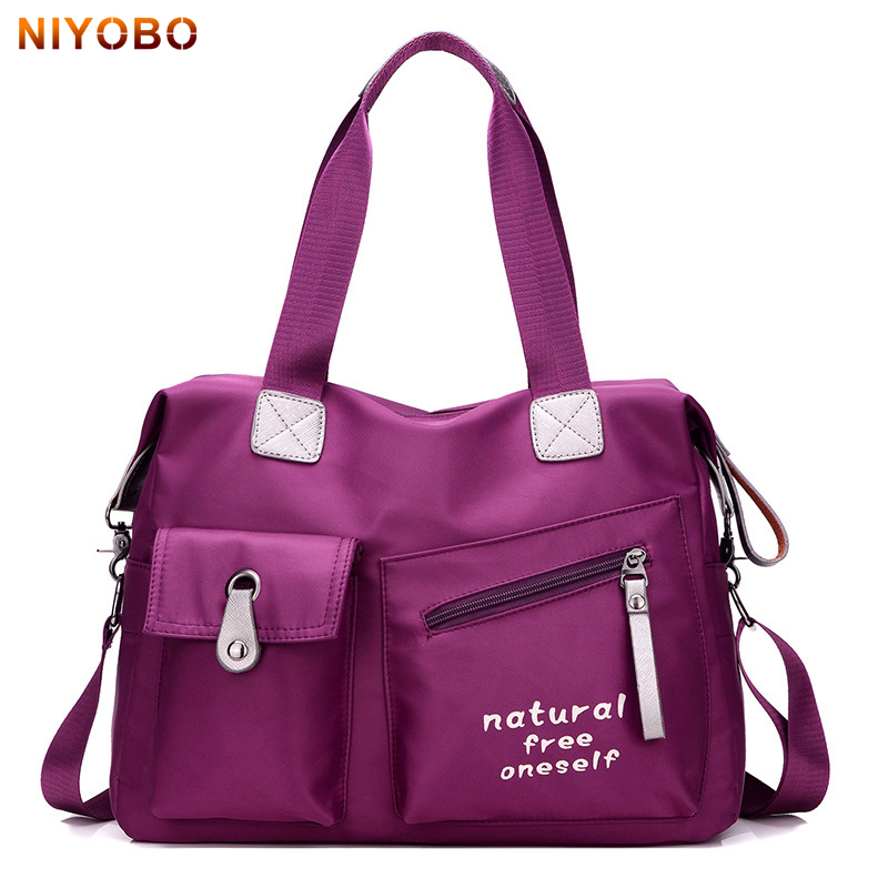 NIYOBO Fashion Women Travel Bags Casual Nylon Lady Tote Large Capacity Luggage Bag Oxford Waterproof Travel Bag for Woman PT1229