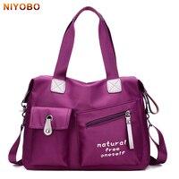 NIYOBO Fashion Women Travel Bags Casual Nylon Lady Tote Large Capacity Luggage Bag Oxford Waterproof Travel Bag for Woman PT1229