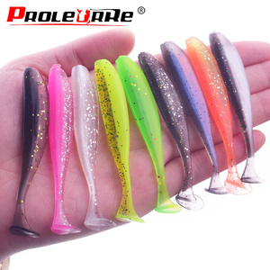 10Pcs/lot T tail Worm Wobbler Soft Lure 75mm 55mm Swimbaits Artificial Silicone Soft Bait Bass Carp isca Flying Fishing tackle(China)