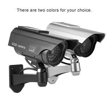 Gefälschte Kamera Solar Power Dummy Kamera Wasserdichte Outdoor Sicherheit CCTV Überwachung Dummy Kamera Kugel Mit LED Licht