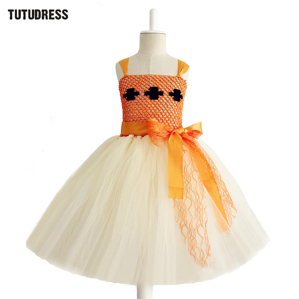 Beige Orange Cosplay Girls Moana Dress For Kids Birthday Party Tutu Dress Girls Clothes Tulle Princess Dress Halloween Costume fairy tale dress kids halloween princess cosplay dress