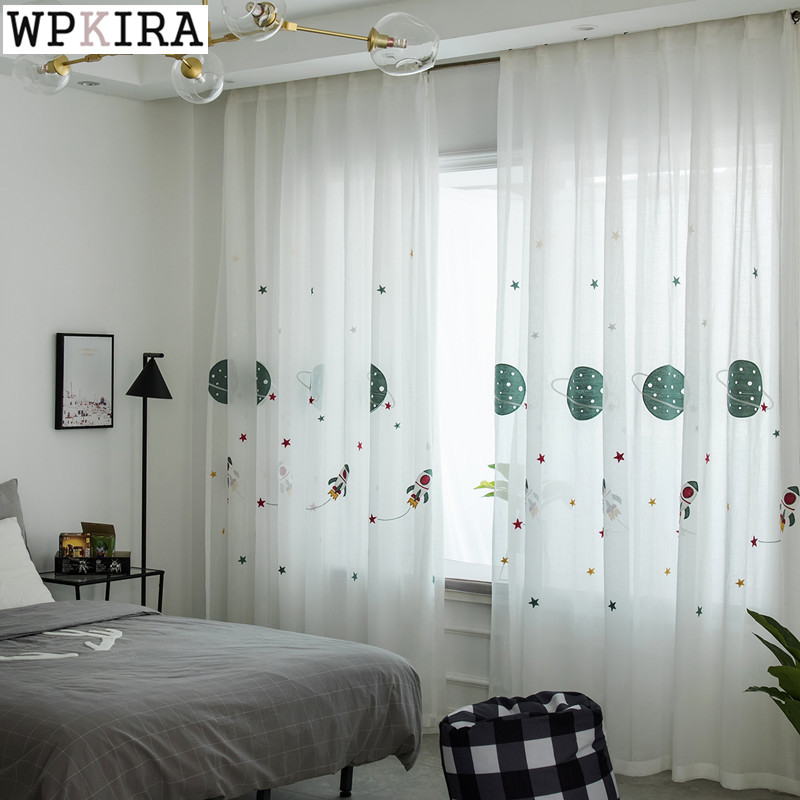Buy cartoon planet star blackout curtains - Childrens bedroom blackout curtains ...