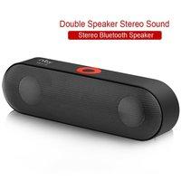 Wireless Bluetooth Speaker Bar Portable Speakerphone Stereo HD Sound Bass Dual Driver USB Handsfree Calling FM Radio Outdoor