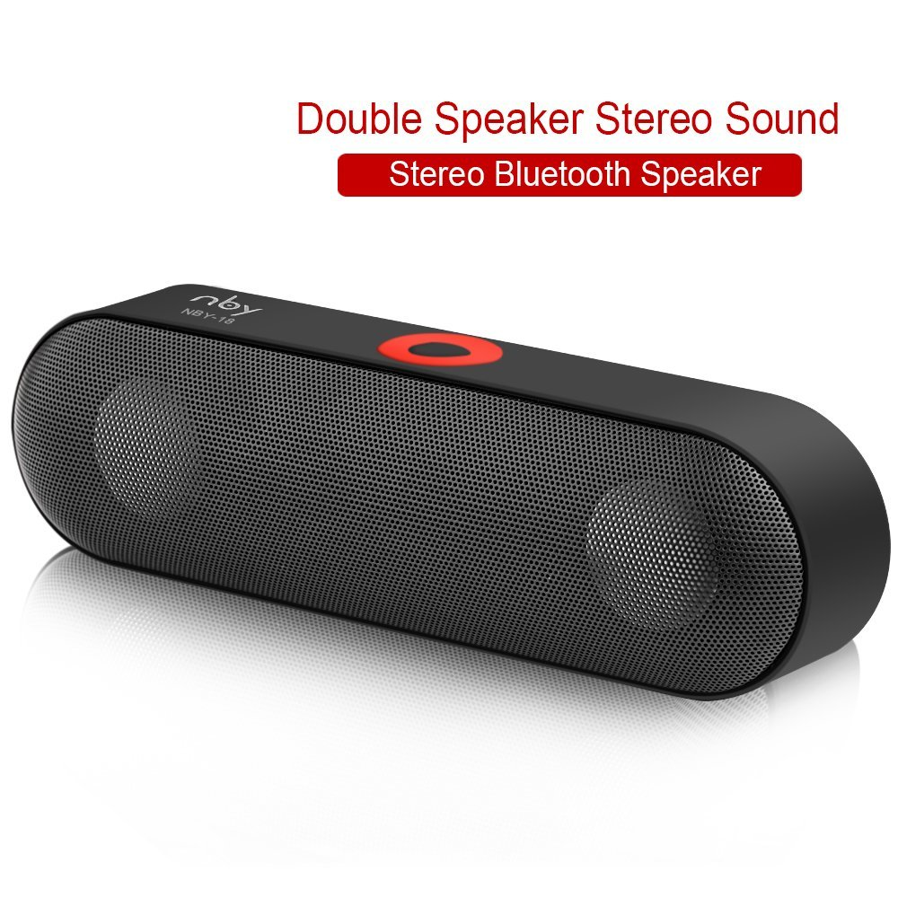 Wireless Bluetooth Speaker Bar Portable Speakerphone Stereo HD Sound Bass Dual Driver USB Handsfree Calling FM Radio Outdoor