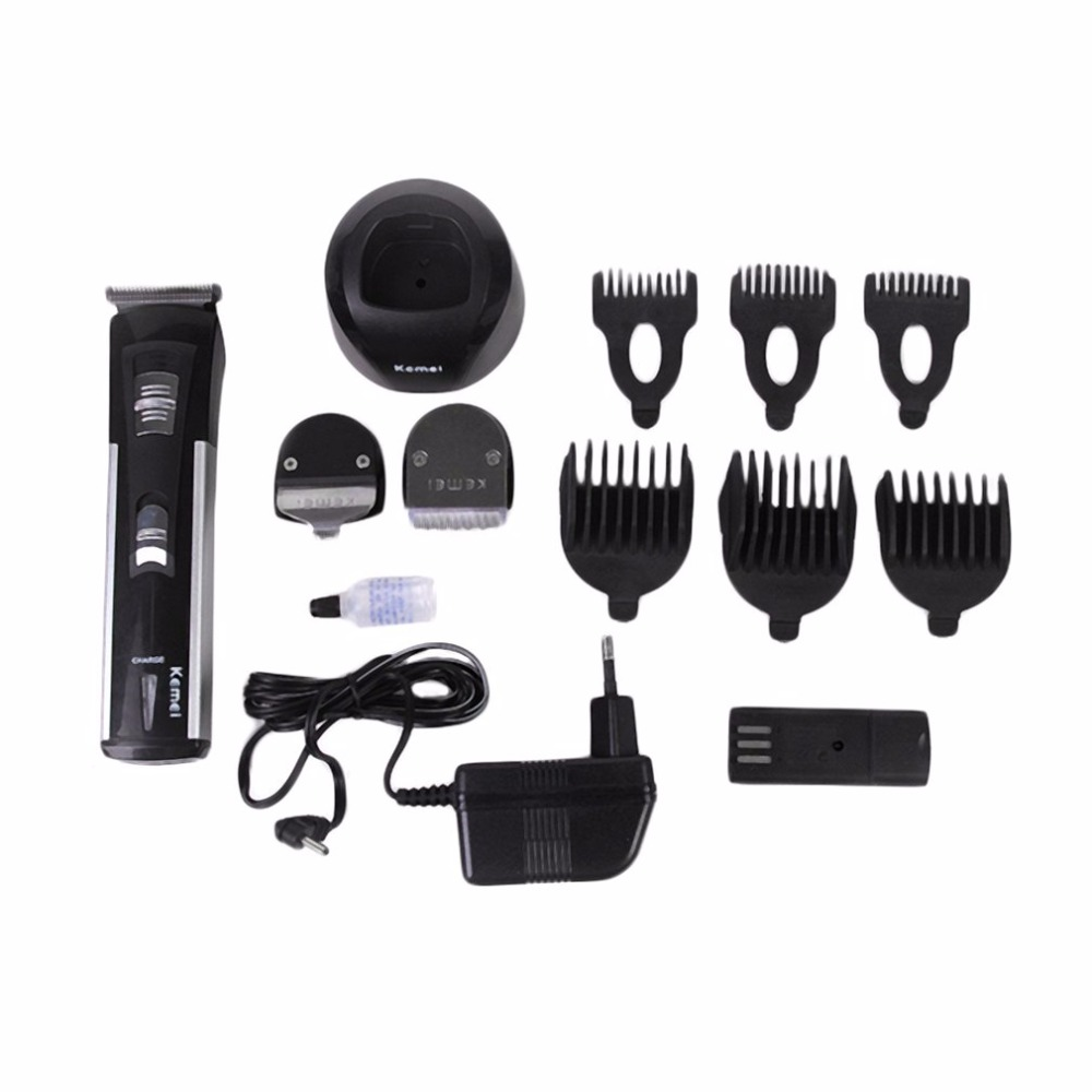 KEMEI Multifunctional 3 In 1 Electric Barber Scissor Hair Set Clipper For Household Good Hair Cutter Tool Top Quality 46pcs socket set 1 4 drive ratchet wrench spanner multifunctional combination household tool kit car repair tools set