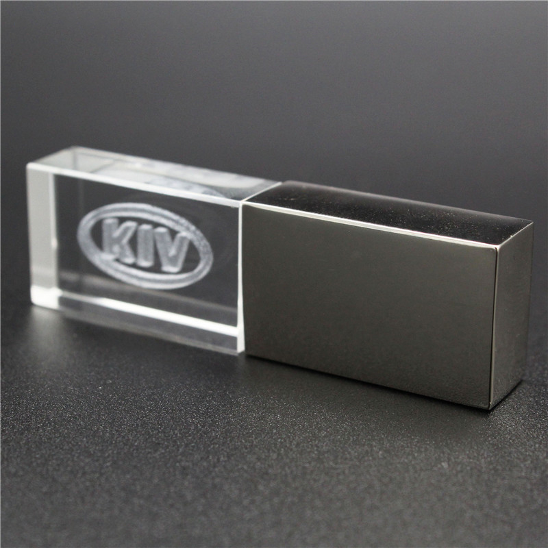 64GB Usb2.0 Metal Crystal KIA Car Key Model USB Flash Drive 4GB 8GB 16GB 32GB Precious Stone Pen Drive Special Gift