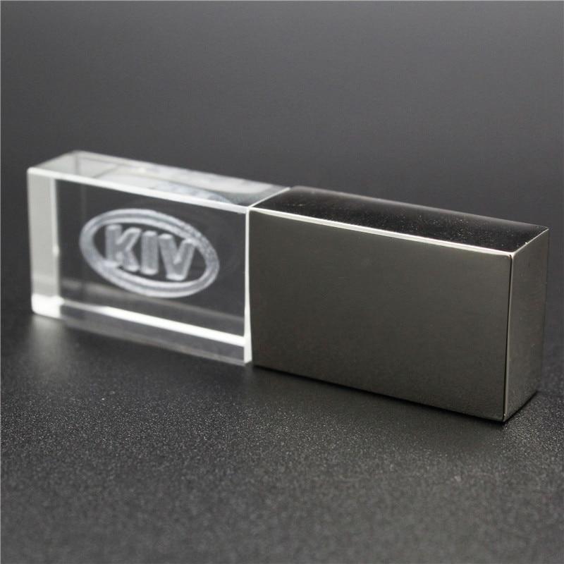 64GB Usb2.0 Metal Crystal KIA Car Key Model USB Flash Drive 4GB 8GB 16GB 32GB Precious Stone Pen Drive Special Gift