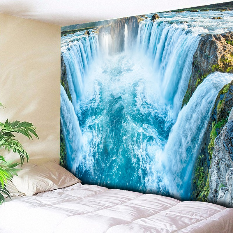 Home Decor 2019 New Style Mandala Wall Hanging Hd Summer Landscape Printed Tapestry 3d Word Art Carpet Yoga Mat Decorative Blanket For Home Boho