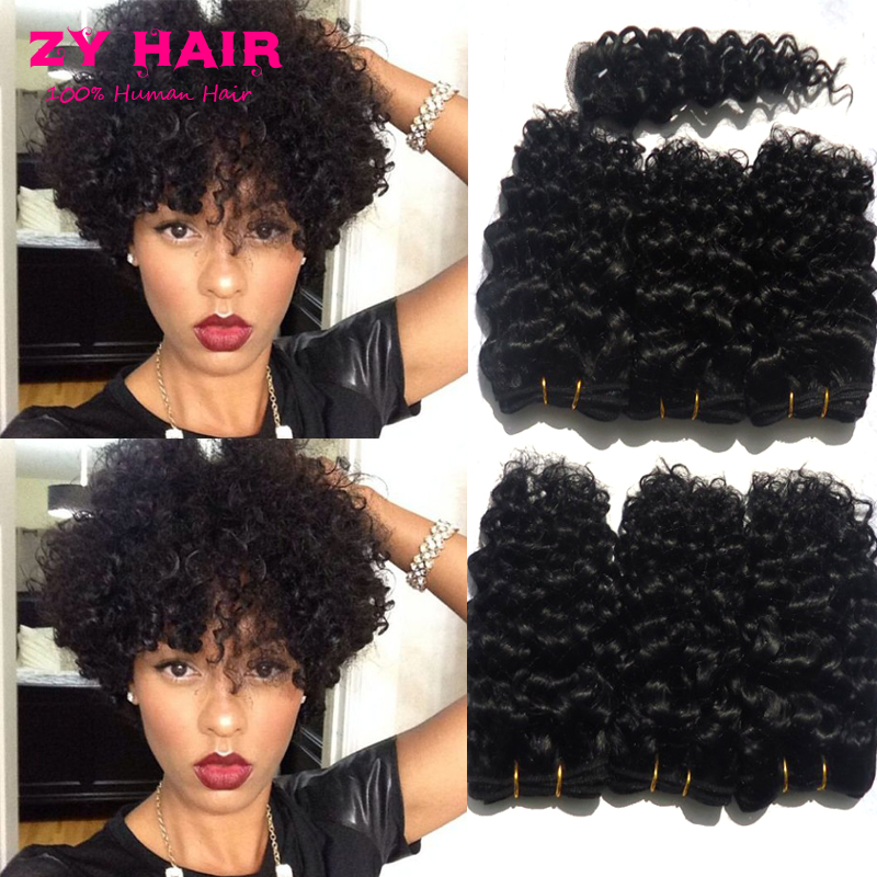 Cheap Hair Bundles 6pcs Lot Cabelo Cacheado Brazilian Curly Hair With  Closure Rosa Hair Products Short Hair For Women Fast Deals 1772f05e04