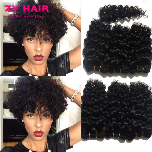 Cheap Hair Bundles 6pcs Lot Cabelo Cacheado Brazilian Curly Hair With  Closure Rosa Hair Products Short Hair For Women Fast Deals ce58141fa
