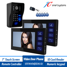 7 inch LCD Video font b Door b font Phone intercom Doorbell RFID Carder 1 font