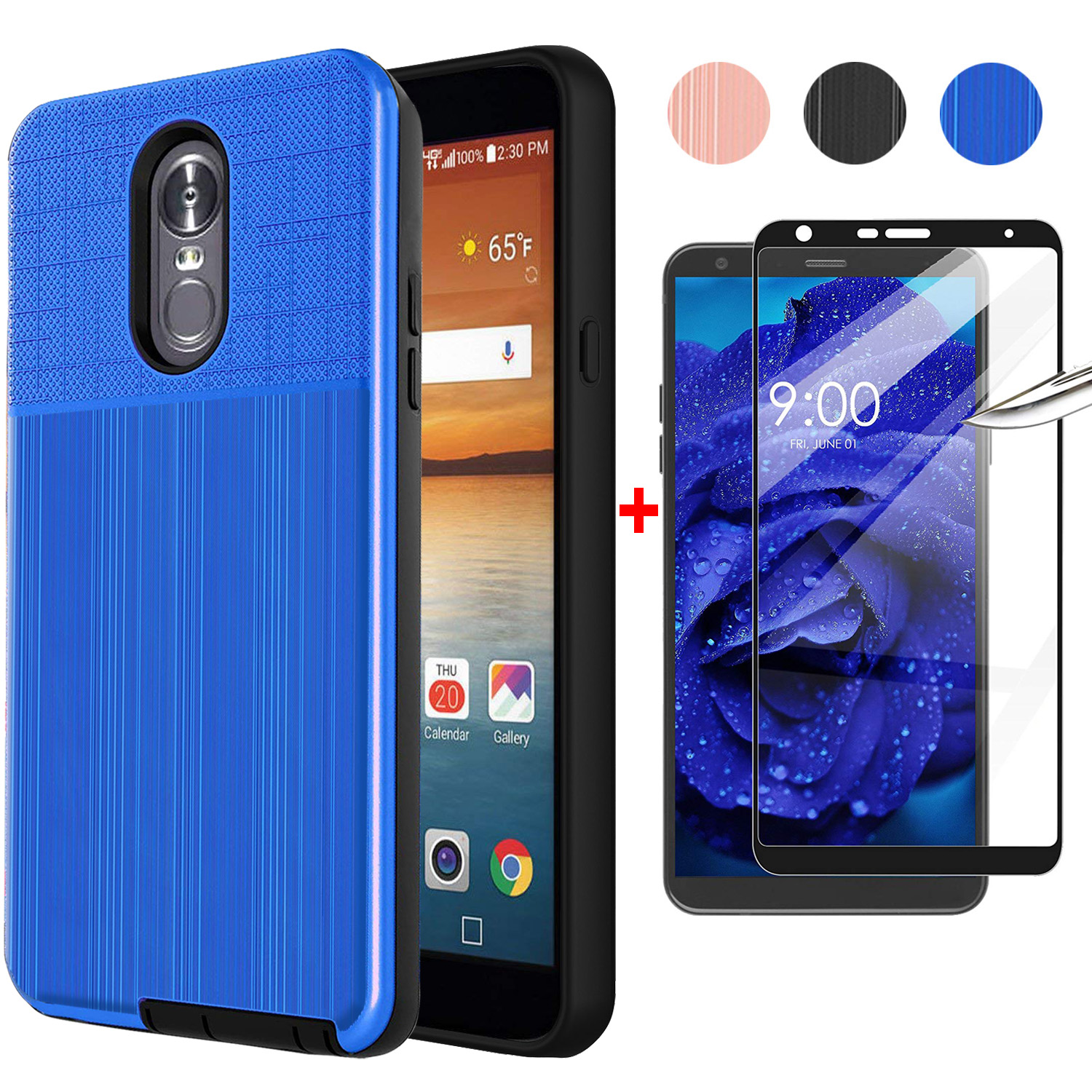 For LG Stylo 3 Cases Cute Cover Shockproof Carbon Fiber