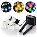 New Arrival LED 20 LED Solar Outdoor String Fairy Lights Chuzzle Ball Lights for Outside Garden Camping Party Christmas