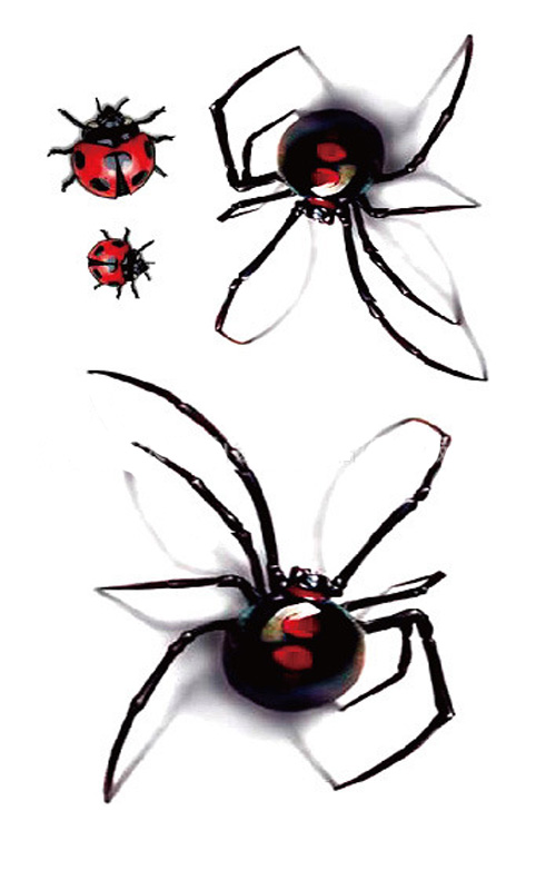 Red Spider Ladybug Body Art Sexy Waterproof Temp Tattoo Sticker r122