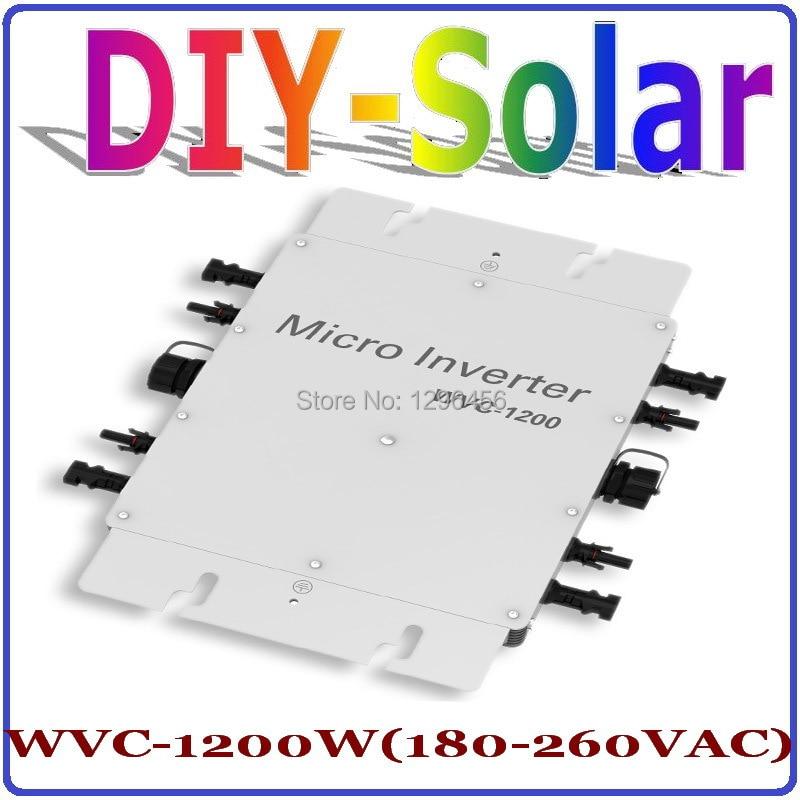 1200W MPPT Grid Tie Inverter 36V 220V, 22-50VDC to AC180-260V Pure Sine Wave Power Inverter 1200W Home Use Solar system цены