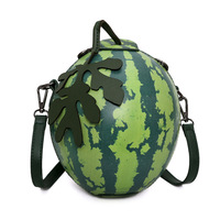 Messenger Bags Fashion Green Watermelon Shape Personality Mini Girl Party Bag Gift Leaves Luxury Brand Crossbody
