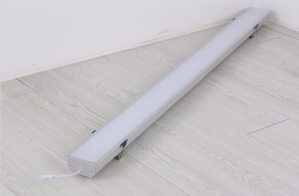 Free Shipping New Design recessed Aluminum 4ft 5ft 40w 50w led tube light fixture led recessed linear light 3 years warranty цена и фото