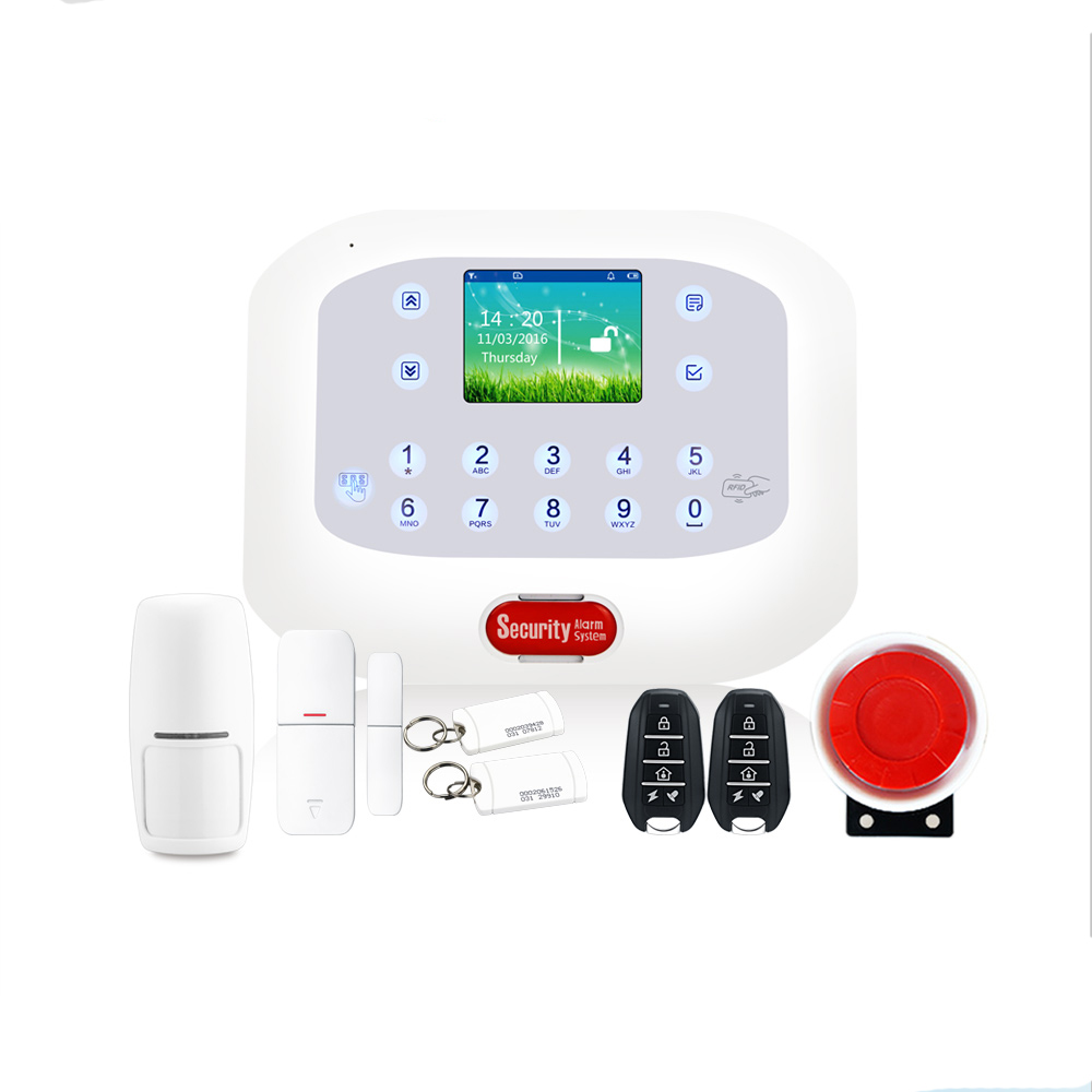 Touch Screen GSM RFID Arm Disalarm Security Home Alarm System Wireless Home Burglar With App Control Home Alarm Kit 2017 advanced tcp ip burglar gsm alarm system security home alarm system gprs alarm system with rfid tag function