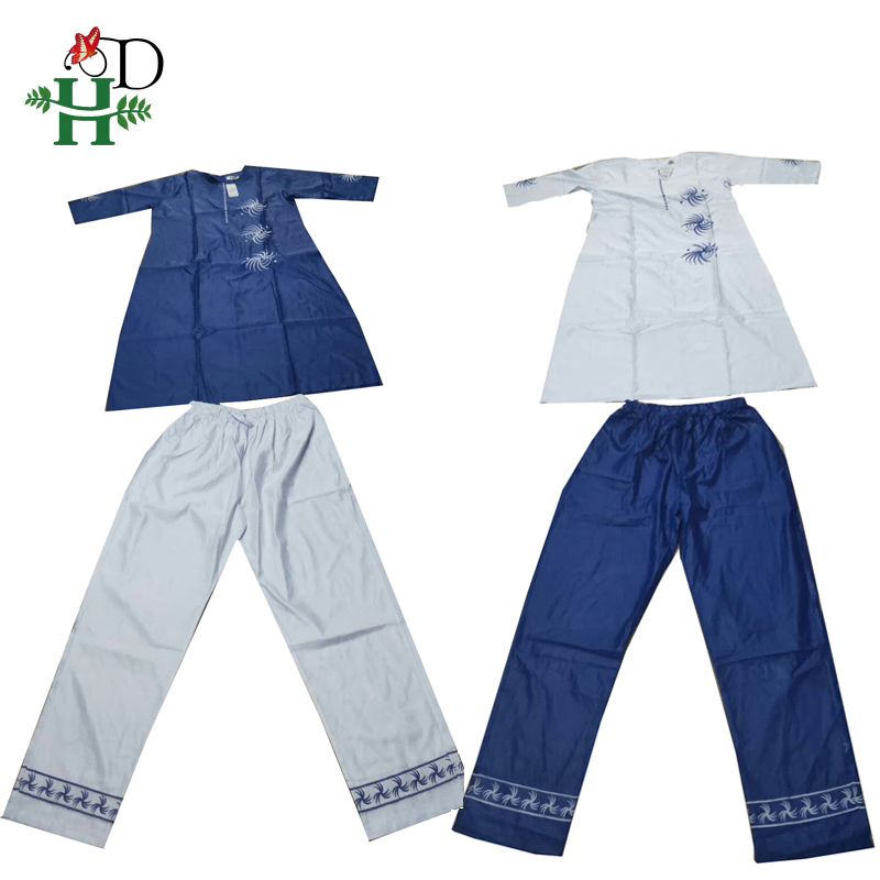 Image 5 - 3 pieces set 2019 fashion african clothing for women dresses pant scarf set bazin riche robe embroidery african clothes S2946Africa Clothing   -